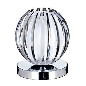 CHROME TOUCH TABLE LAMP WITH CLEAR ACRYLIC & FROSTED GLASS