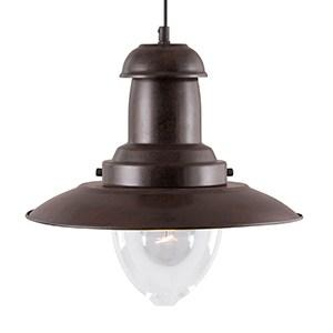 FISHERMAN RUSTIC BROWN LIGHT WITH CLEAR GLASS SHADE