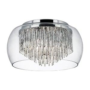 CURVA CLEAR GLASS SHADE 4 LIGHT SEMI-FLUSH FITTING