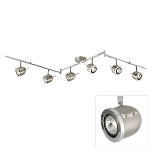 SEARCHLIGHT PALMER 3LIGHT S/SILVER 4923SS