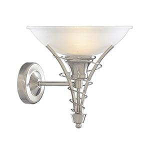 SEARCHLIGHT Linea satin silver wall light 5227SS