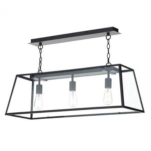 ACADEMY 3 LIGHT PENDANT BLACK