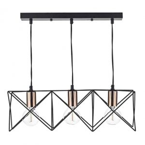 Midi 3 Light Bar Pendant Black