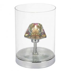 DECADE TOUCH TABLE LAMP POLISHED CHROME/ CLEAR TOUCH