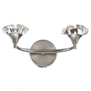 LUTHER DOUBLE WALL LIGHT SATIN CHROME
