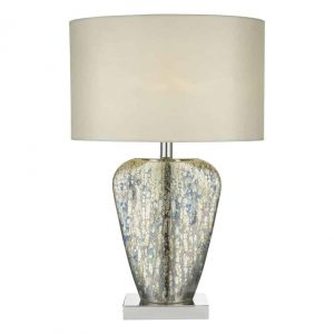SYRACUSE TABLE LAMP MERCURY GOLD C/W SHADE