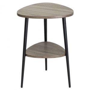 VIGO SIDE TABLE WITH SHELF OAK STYLE VENEER
