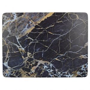 CREATIVE TOPS NAVY MARBLE PACK OF 6 PREMIUM PLACEMATS & 6 COASTERS