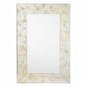 OTRANTO RECTANGLE GOLD FAN PATTERN MIRROR 120 X 80CM