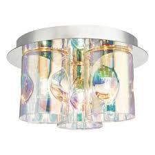 Inter 3lt Flush Pol Chrome & Iridised Glass