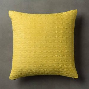 Scandi Yellow Quilted Cushion