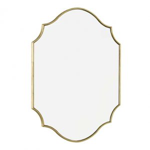 Ruggiero Rectangle Mirror With Gold Detail