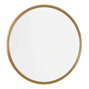 Tiya Round Mirror With Gold Detail