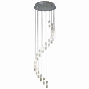 GALILEO 20lt Cluster Pendant Polished Chrome LED 2M Drop