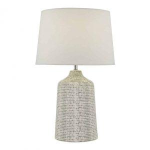 Vondra Table Lamp White & Grey With Shade