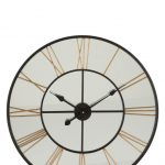 70 CM Clock Roman Numerals Mirror/Metal Black/Gold