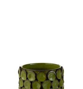 Flowerpot Malou Ceramic Green Large