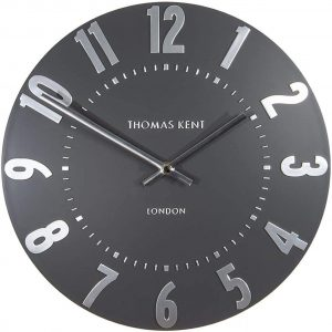 20″ Mulberry Wall Clock Graphite Silver