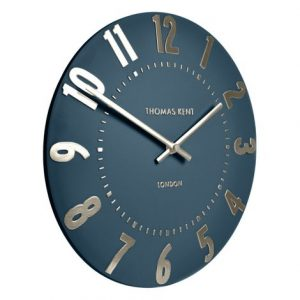 20″ Mulberry Wall Clock Midnight Blue