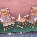 Bamboo Deck Chairs and Side Table Set £330