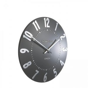 12″ Mulberry Wall Clock Graphite Silver