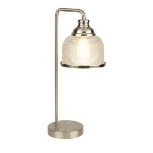 BISTRO II – 1LT TABLE LAMP – SATIN SILVER