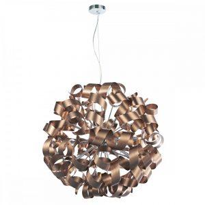 Rawley 12 Light Ribbon Pendant Brushed Copper
