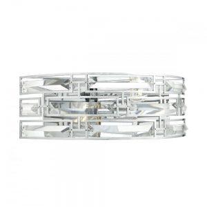 Seville 2lt Wall Light Crystal Polished Chrome Frame