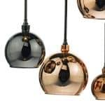 Aurelia 15 Light Cluster Pendant with Stunning Copper & Bronze Glass Shades