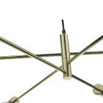 Alana 6 Light Pendant Polished Gold