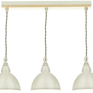 Blyton 3 Light Bar Pendant complete with Painted Shds