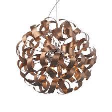 Rawley 9 Light Ribbon Pendant Brushed Copper