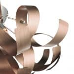 Rawley 4 Light Ribbon Flush Brushed Copper