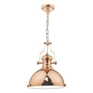 Arona 1lt Pendant Copper & Glass