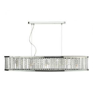 Nantes 5 Light Bar Pendant Polished Chrome Aluminium